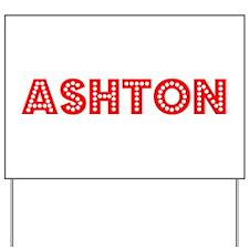 Retro Ashton (Red) Yard Sign