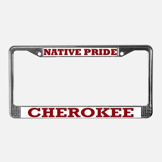 Native Pride Cherokee License Plate Frame