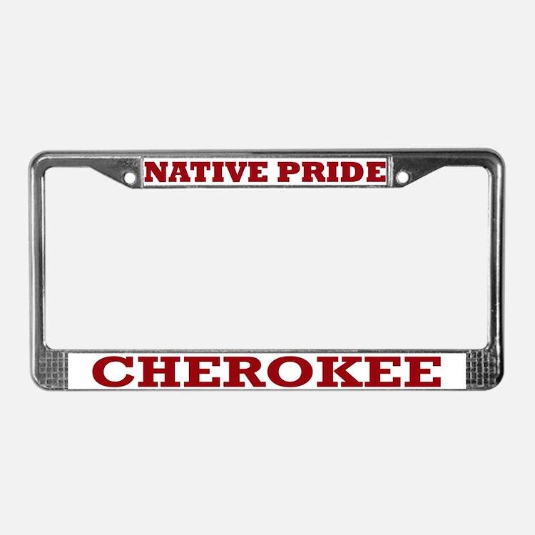 Cherokee Nation Licence Plate Frames Cherokee Nation