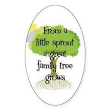 Little Sprout Oval Bumper Stickers