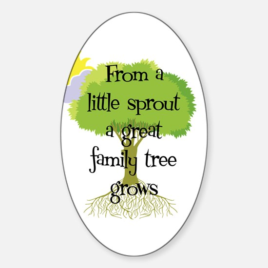 Little Sprout Oval Decal