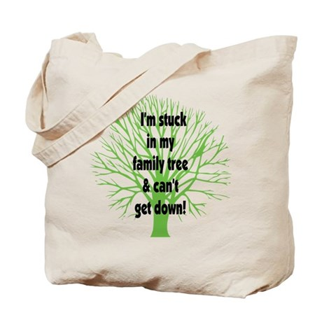 Stuck in Family Tree Tote Bag