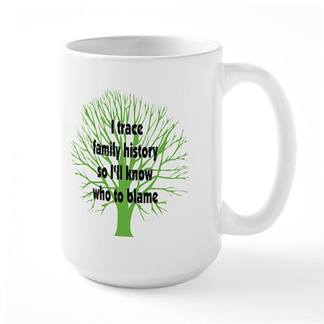 Trace Family History Large Mug