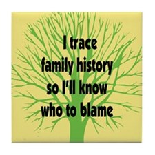 Trace Family History Tile Coaster