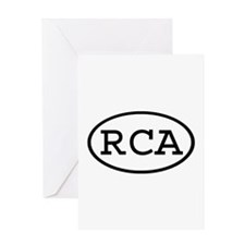 RCA Oval Greeting Card