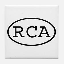 RCA Oval Tile Coaster