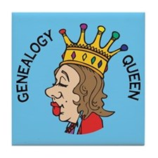 Genealogy Queen (2) Tile Coaster