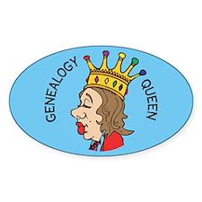 Genealogy Queen (2) Oval Decal