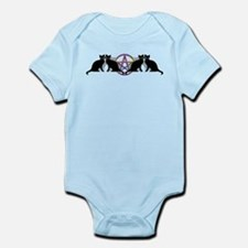 Black cat magic witch Infant Bodysuit