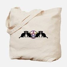 Black cat magic witch Tote Bag