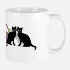 Black cat magic witch Small Small Mug