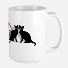 Black cat magic witch Mug