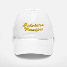 Retro Badminton C.. (Gold) Baseball Baseball Cap