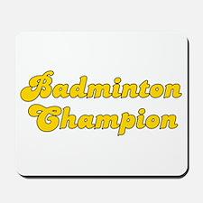 Retro Badminton C.. (Gold) Mousepad
