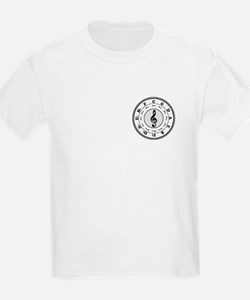 Grayscale Circle of Fifths Kids T-Shirt