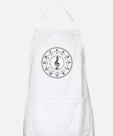 Grayscale Circle of Fifths BBQ Apron