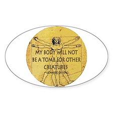 Body Tomb Oval Sticker (10 pk)