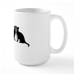 Black cat magic witch Mug