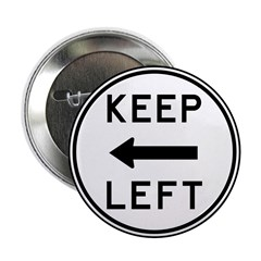 """Keep Left 2.25"""" Button (100 pack)"""