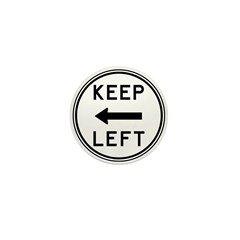 Keep Left Mini Button (100 pack)