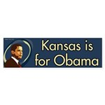 Kansas is for Obama bumper sticker