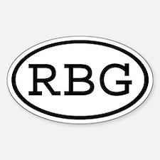 RBG Oval Oval Decal