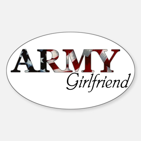 Army Girlfriend (Flag) Oval Decal