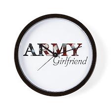 Army Girlfriend (Flag) Wall Clock