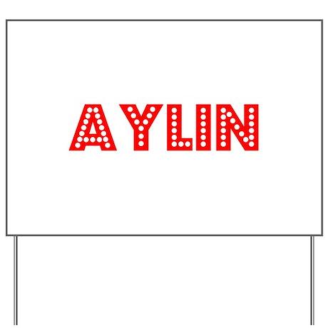 Retro Aylin (Red) Yard Sign