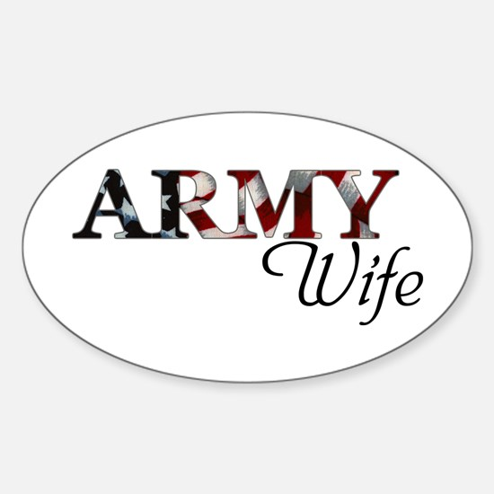 ARMY Wife Oval Decal