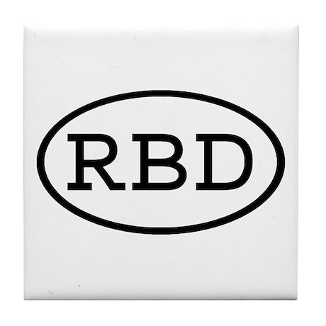 RBD Oval Tile Coaster