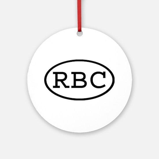 RBC Oval Ornament (Round)