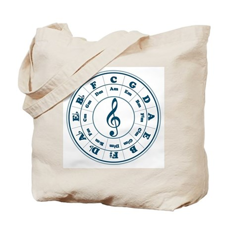 Dk. Blue Circle of Fifths Tote Bag