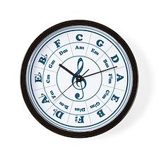 Dk. Blue Circle of Fifths Wall Clock
