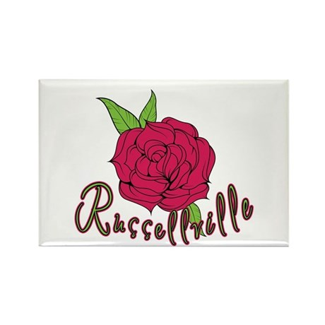 Russellville Rose Rectangle Magnet