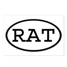 RAT Oval Postcards (Package of 8)