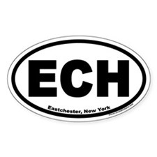 ECH Eastchester, New York Oval Decal