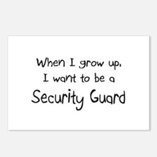 When I grow up I want to be a Security Guard Postc