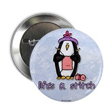 "life's a stitch 2.25"" Button"
