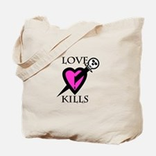 Cute Love sucks skull Tote Bag
