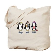 sleep eat knit Tote Bag