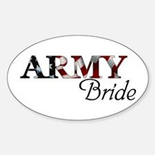 ARMY Bride Oval Decal