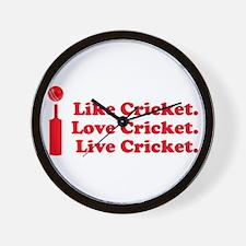 I live Cricket Wall Clock