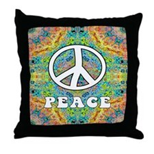 Groovy Peace Throw Pillow