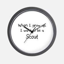 When I grow up I want to be a Scout Wall Clock