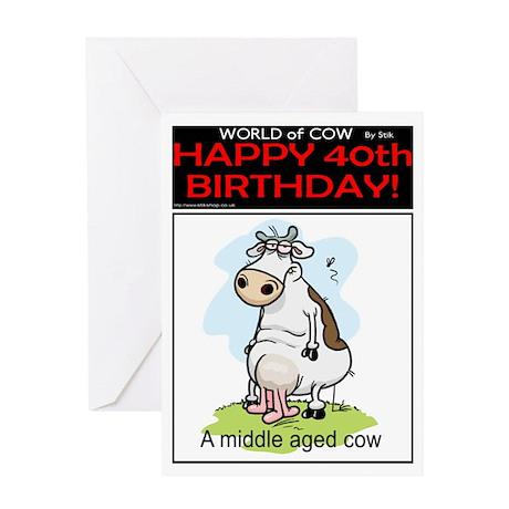 40th Birthday Greeting Card By Stikshop