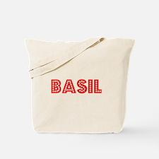 Retro Basil (Red) Tote Bag