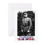 Team Infidel - General Pershing Greeting Cards (Pa