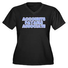 Retro Accounts Pa.. (Blue) Women's Plus Size V-Nec