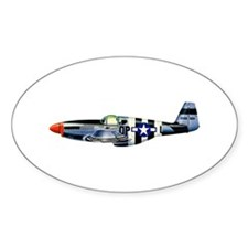 P-51 Oval Decal